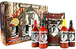top 10 louisiana hot sauces Zombie Cajun Hot Sauce Gift Set – 4 full size (6 oz) bottles with traditional Creole slow cooking…
