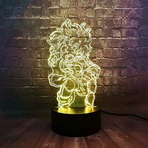 Cartoon Lava My Hero Illustration Couleur Valley Longue Couleur Base De Charge Décoration de La Maison Veilleuse Enfants Cadeau Jouet Illusion 16 Couleur Veilleuse 3D Lumières Fée Illusion Lampe 16 C