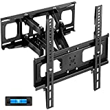 TV Mount Full Motion TV Wall Mount Bracket Articulating Arms Swivels Tilts Extension Rotation for Most 32-65 Inch TVs,up to VESA from 50mm to 400mm, 121 lbs