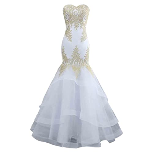 White Wedding Dress Under 500: White And Gold Wedding Dress: Amazon.com