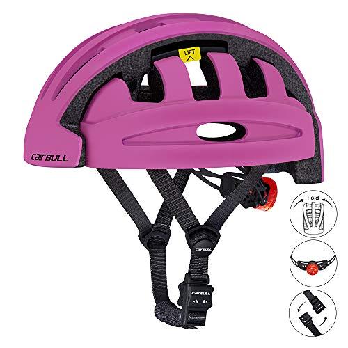 Yiwa Casco de Bicicleta Plegable City and Commuter Sharing Bike Helmet Casco de Ciclismo Purple Free Size
