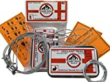 Vigilant Trails Pocket Survival Snare Traps. Includes 3 Locking Small Game Snares, All Weather & Always Working