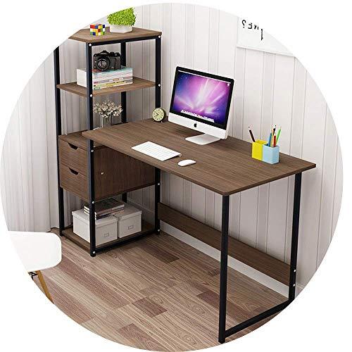 N/Z Living Equipment Tabouret de canapé Bureau d'ordinateur d'angle en Bois Simple avec 2 tiroirs de Rangement et étagère à 4 Niveaux Table pour Enfants pour Chambre à Coucher/Bureau/dortoir étudia