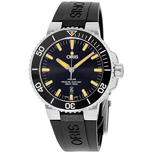 Oris Aquis reloj automático para hombre con esfera negra 01 733 7730 4159-07 4 24 64EB