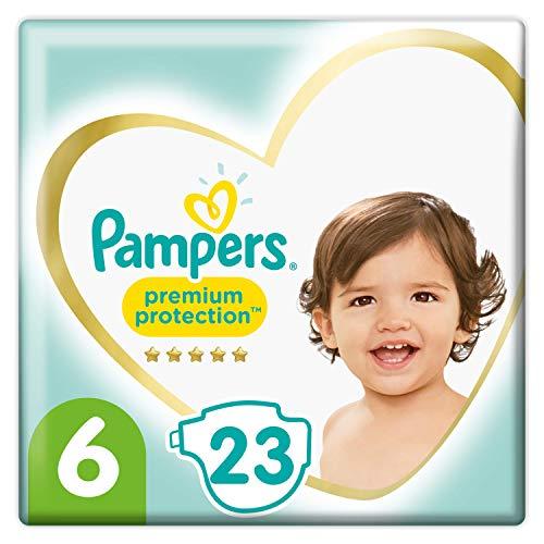 Pampers Baby Windeln Größe 6 (13-18kg) Premium Protection, 23 Stück, Weichster Komfort Und Schutz