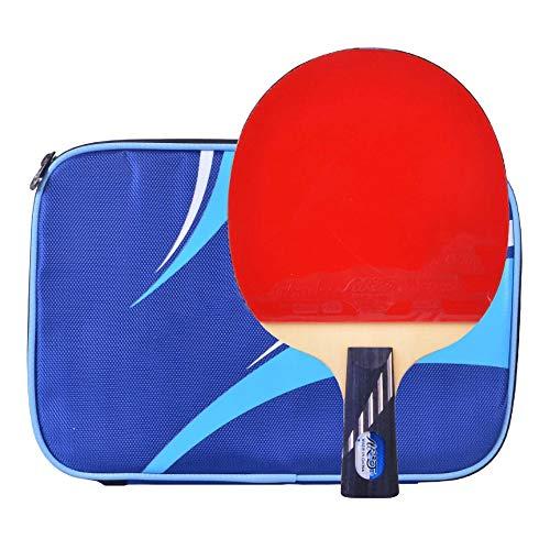 Lerten Palas de Ping Pong,Raquetas de Tenis de Mesa Profesionales de 10 Estrellas con Excelente Control Y Giro para Entrenamiento en Interiores Y Exteriores/A/Mango corto