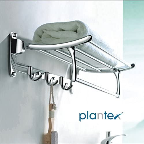 Plantex High Grade Stainless Steel Folding Towel Rack for Bathroom/Towel Stand/Hanger/Bathroom Accessories(18 Inch-Chrome) product image