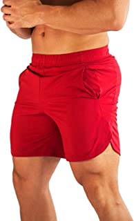 FLYFIREFLY Men's Gym Workout Shorts Running Fitted Training Jogger Slim Short Pants