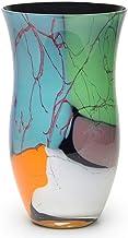 Vaso 49 MS Lascas Coloridas Murano Cristais Cadoro