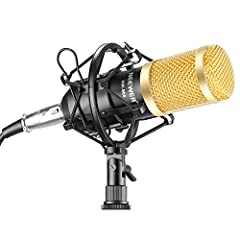 The Set Includes: (1)Black Professional Condenser Microphone + (1)Microphone Shock Mount + (1)Ball-type Anti-wind Foam Cap + (1)Microphone Power Cable. The professional condenser microphone adopts the exacting complete electronic circuit control. Cap...