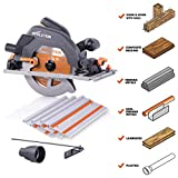 Evolution Power Tools R185CCSX 7-1/4' Multi-Material Circular Track Saw Kit w/ 40' Track