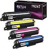 RETCH - Cartucho de tinta de repuesto para impresora Brother TN247, TN243, TN-247, TN-243, para impresora Brother MFC-L3750CDW, MFC-L3770CDW, DCP-L3550CDW, L3270CDW, L3230CDW, L3210CW