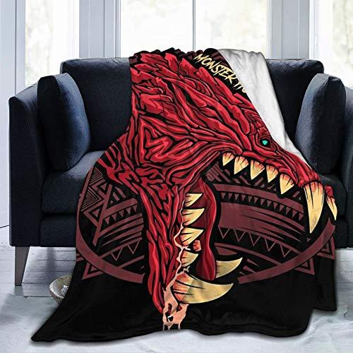 "Zblin Odogaron Monster Hunter Boutique Blankets Soft Comfortable Plush Microfiber Flannel Blanket 50""X40""Inch"