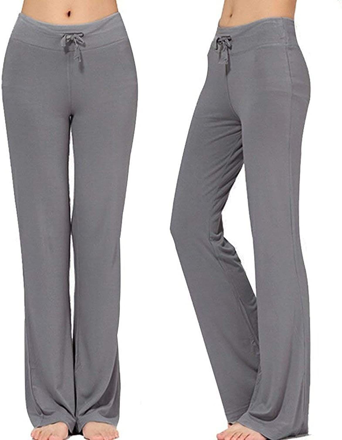 NB Women's Long Modal Comfy Drawstring Trousers Loose StraightLeg for Yoga Running Sporting
