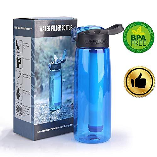 Wasserfilter Outdoor Survival Kit Outdoor Wasserfilter, Camping Wandern Reise Notfall Bereitschaft Outdoor-Entfernt 99.99% Bakterien Filter für Wandern Trekking Reisen Abenteuer und Notbereitschaft