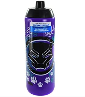 Zak Designs BPMB-S910 Marvel Comics Water Bottles, 24 oz, Black Panther