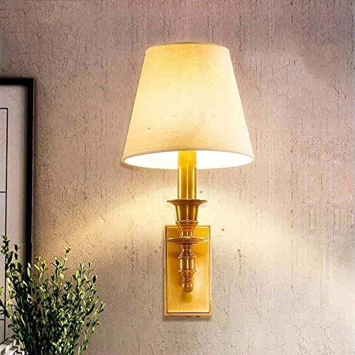 WHKHY Style d'allée Linge de lit l'ombre de l'ensemble Retro Bronze Applique Chambre Balcon