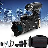 Cámara de videoblogs digital 4K para YouTube Videocámara 4k Cámara de video HD 1080P 33MP con conexión PC TV Pantalla LCD TFT de 3,0 ', lente gran angular, zoom digital de 8 aumentos, enfoque automáti