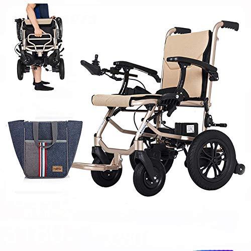 SISHUINIANHUA Sedia a rotelle elettrica, Scooter Pieghevole Intelligente a Quattro Ruote Pieghevole, Doppio Controllo, con 2 batterie al Litio Estraibili
