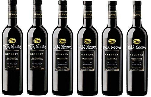 Pata Negra Reserva 2013 Vino Tinto D.O Valdepeñas - Pack de 6 Botellas x 750 ml
