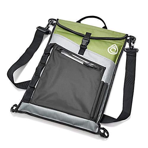 Aqua Quest Typhoon Laptop Sleeve - 100% Waterproof, Lightweight, Durable, Padded Case - Protective Computer Pouch Cover Bag - 13 inch - Green