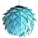 Baby Blue Harlekin, Ø 35cm, hell blaue Papierlampe Hängelampe Lampe Lampenschirm Pendellampe...