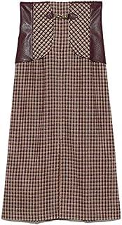 [リリーブラウン] ビット付き合皮切り替えタイトスカート LWFS214097 レディース