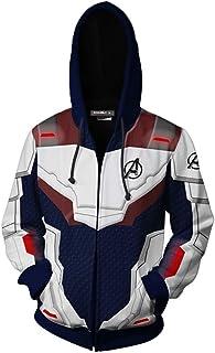 b2b871731 OLIPHEE Mens 3D Hoodie Cosplay Cosume Avenger's Endgame Hoodie Super Hero  Pullover Advanced Tech Uniform Quantum
