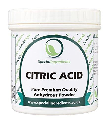 Special Ingredients Acido Citrico 100 gr qualità premium (Etichette ed istruzioni in italiano)