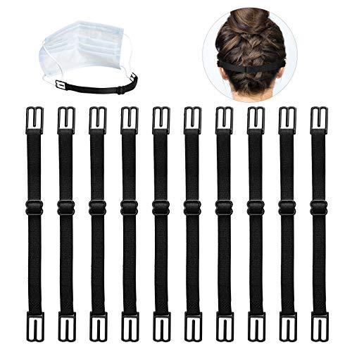Mask Extender,JTENG,Maskenhalter elastische Maskenhalterung zur Entlastung der Ohren über Nacken und Hinterkopf - Zur Verlängerung der Mundschutzhalter (10pcs)