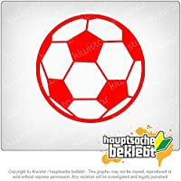 サッカー Soccer 11cm x 11cm 15色 - ネオン+クロム! ステッカービニールオートバイ
