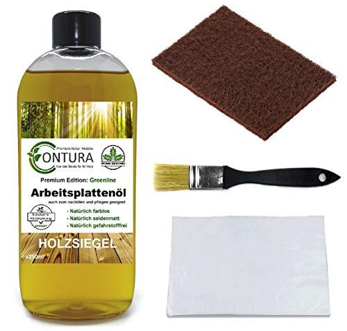 Contura Arbeitsplattenöl SET Holzpflegeöl Holzpflege Holzöl Tisch Arbeitsplatten Möbelöl Holzschutz nachölen auffrischen pflegen Holzpflegeset Pflegemittel