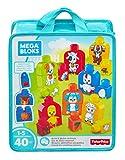 Mega Bloks Mes Animaux à Assembler, jeu de blocs de construction, 40 pièces, jouet pour bébé et enfant de 1 à 5 ans, FLT36