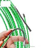 Fayella 4mm 5m / 15m / 25m Cable de fibra de vidrio Tiradores de empuje Conducto Serpiente Rodder Cinta de pescado Alambre POM Cinta de extracción de pescado Tirador de cable eléctrico, 25M