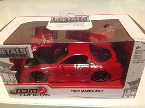 1993 Mazda RX-7 JDM Tuners Red Black 1:32 Jada Toys 98786