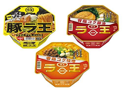 日清 ラ王 カップ麺詰め合わせ 3種類 各4個 1箱:12食入り (背脂コク醤油・香熟コク味噌・豚ラ王