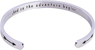NIYOKKI Graduation Gifts Cuff Bracelet and So The Adventure Begins