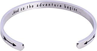Graduation Gifts Cuff Bracelet and So The Adventure Begins