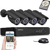 [8CH, Expandable] SANSCO True 1080p CCTV Surveillance Camera System, 8 Channel 5MP DVR