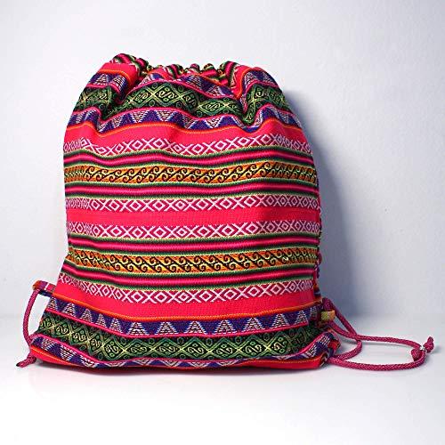 Mochila de manto peruano multicolor