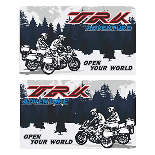 Qwjdsb para Benelli TRK 502 X 251 TRK502 TRK251, Estuches de Aluminio, Pegatinas, calcomanía, Caja de Viaje, Maletas, Maleta Lateral Trasera para Equipaje