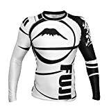 Fuji IBJJF Freestyle Long Sleeve Rash Guard, White, X-Small