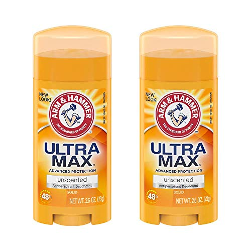 ARM & HAMMER ULTRAMAX Anti-Perspirant Deodorant Solid Unscented 2.60 oz (Pack of 2)