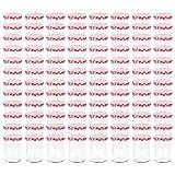 Ksodgun Tarros de Cristal, Tarro de Mermelada de Vidrio Redondo de 400 ml, frascos de Vidrio de 96 Piezas para Mermelada, Miel, Conservas, con Tapa Blanca y roja