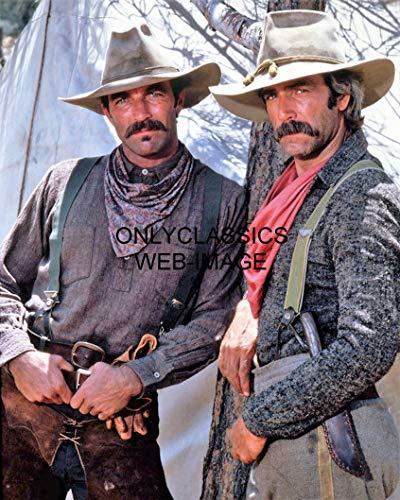 OnlyClassics 1979 The SACKETTS Western Cowboys Cool Tom Selleck, SAM Elliott Movie 8.5' X 11' Photo
