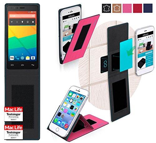 reboon Hülle für BQ Aquaris E4.5 Tasche Cover Case Bumper   Pink   Testsieger