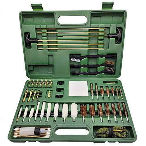 GuardTech Plus Universal Gun Cleaning Kit for All Guns, Pistol, Rifle, Shotgun, Handgun, Airsoft, 9mm Bore Snake, Brass Jags, Picks, Patches and Travel Case