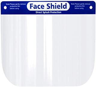 Safety Face Shield, All-Round Protection Cap with Clear Wide Visor Spitting Anti-Fog Lens, Lightweight Transparent Shield with Adjustable Elastic Band for Men Women 20 Pack