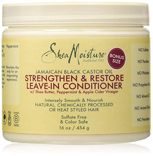 Shea Moisture Jamaican Black Castor Oil Strengthen/Grow and Restore Leave in Conditioner 454 gm or 16 oz