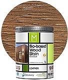 Barniz Madera Exterior | Color Leather | 1 Litro | Barniz ecológico para todo...